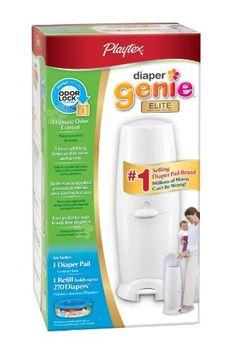 Playtex Diaper Genie Elite Diaper Disposal Pail, White by Playtex, http://www.amazon.com/dp/B001BMWABI/ref=cm_sw_r_pi_dp_gkgLqb1418M6A
