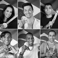 Atletas brasileiros fazem ensaio com medalhas da Rio 2016