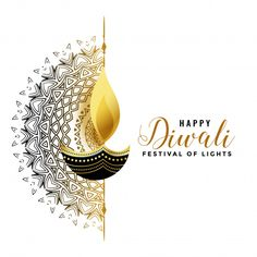 Golden background with a candle for diwali Vector Latest Rangoli Designs Images, Diya Designs, Beautiful Rangoli Designs, Diwali Greeting Cards, Diwali Greetings, Diwali Wishes, Feliz Diwali, Happy Diwali Pictures, Diwali Vector