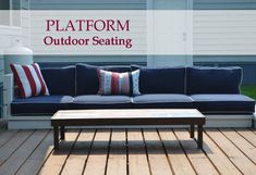 Platform Outdoor Sectional | Ana White Yard Furniture, Diy Outdoor Furniture, Diy Furniture Projects, Furniture Plans, Easy Woodworking Projects, Easy Diy Projects, Outdoor Projects, Woodworking Quotes, Woodworking Shop