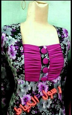 Perfect for blouse design too. Very nice design Chudithar Neck Designs, Salwar Neck Designs, Neck Designs For Suits, Kurta Neck Design, Sleeves Designs For Dresses, Neckline Designs, Blouse Neck Designs, Kurta Designs, Neck Pattern