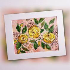 Mixed Media Painting, Mixed Media Canvas, 9 Year Wedding Anniversary, Friendship Rose, Acrylic Canvas, Painted Pumpkins, Art Ideas, Original Art, My Etsy Shop