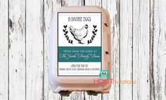 Printable Egg Carton labels from Hoot Invitations  https://www.etsy.com/shop/HOOTinvitations #eggcartonlabel #backyardfarming #keepingchickens