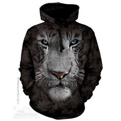 Want !! The Mountain - Royal White Tiger Hoodie, $54.00 (http://shop.themountain.me/royal-white-tiger-hoodie/)