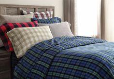 wholeHome®/MD 'Jasper' Flannel Duvet Cover Set Bedroom Retreat, Master Bedroom, Flannel Duvet Cover, Canada Shopping, Online Furniture, Duvet Cover Sets, Sheet Sets, Mattress, Jasper