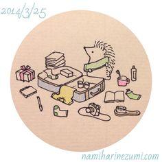 Packing neatly ©Nami Nishikawa