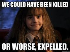 Only Hermoine would say that!