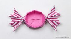 Round Origami Candy Box Instructions - Paper Kawaii