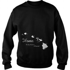 Awesome Tee My Home T Shirt, Big Island, Hawaii - HI, White T shirts