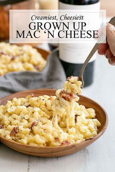Creamy Stovetop Mac & Cheese Recipe with Bacon and Mushrooms - Great easy dinner recipe for adults and kids recipe cheese dinner 332633122479307990 Macaroni And Cheese Bacon, Cheesy Mac And Cheese, Mac And Cheese Casserole, Stovetop Mac And Cheese, Fancy Cheese, Grown Up Mac And Cheese Recipe, Mac Cheese Recipes, Mac And Cheese Homemade, Bacon Recipes For Dinner