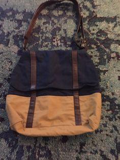 368773ffebd1 Handmade Messenger Bag Navy  amp  Camel With Seer Sucker Lining Dark Brown  Leather  fashion