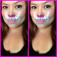 Bunny rabbit make-up