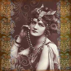 Vintage, Lady, Digital Art