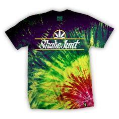 SHAKE JUNT TEE PURE BUD RASTA BURST SHIRT Tie Dye T-Shirt XL #ShakeJunt