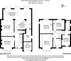 Check out this property for sale on Rightmove! 4 bedroom detached house for sale in Harefield Avenue, Cheam, Sutton, House Plans Uk, House Layout Plans, House Layouts, House Floor Plans, 1930s House Extension, House Extension Plans, House Extension Design, Extension Ideas, Side Extension