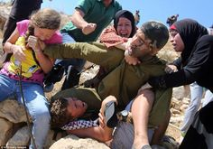 So glad that the mother beat him & girl bit him to save her son from being kidnapped by evil savage #Zionist #Terrorist