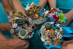 Bridesmaid's Brooch Bouquets