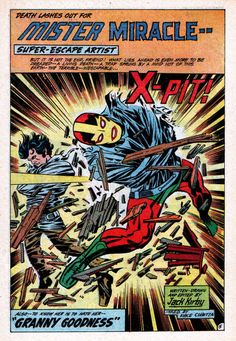 Mister Miracle #2 Splash Page - Jack Kirby, Inks:Vince Colletta
