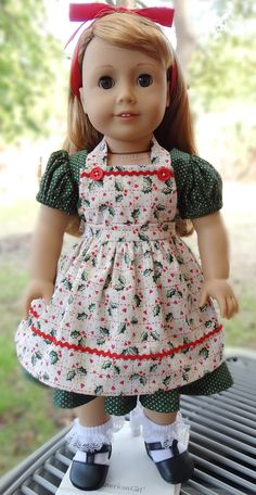 """""""Merry Christmas""""for AG Maryellen  by Designed4Dolls on Etsy  $24.95"""