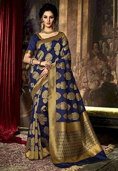 Pakistani indian Designer Bollywood saree embroidery work traditional sari IS Latest Indian Saree, Indian Silk Sarees, Art Silk Sarees, Silk Sarees Online, Indian Fabric, Designer Silk Sarees, Latest Designer Sarees, Designer Dresses, Designer Wear