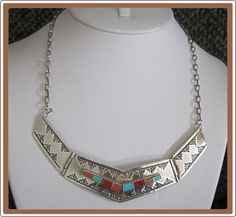 Classy Navajo Sterling Silver Collar Necklace from Cobayley