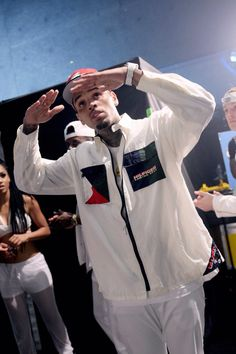 Chris Brown backstage at the BET Awards