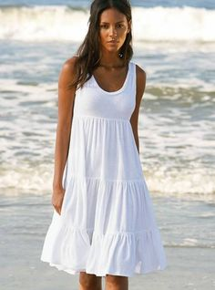 white beach dress  — #Health. Brought to you by SunGoddess Magazine: Igniting the Powerful Goddess WIthin http://sungoddessmagazine.com