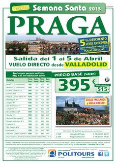 """PRAGA """"Semana Santa"""" salida 1 de Abril desde Valladolid (5d/4n) precio final desde 515€ ultimo minuto - http://zocotours.com/praga-semana-santa-salida-1-de-abril-desde-valladolid-5d4n-precio-final-desde-515e-ultimo-minuto-5/"""