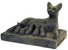 egyptian mother cat statue, 30 Bc 305 - 30 BC