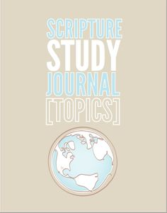 TOPICS Scripture Study Journal Earth Design | The Redheaded Hostess #journal #scripture  http://www.theredheadedhostess.com/shopping/#