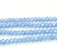 Wholesale 200pcs Rondelle Faceted Light blue AB Crystal Glass loose Spacer Beads 4x3mm Diy Findings #Affiliate