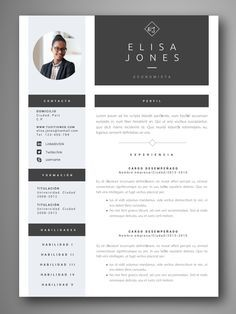 If you like this design. Check others on my CV template board :) Thanks for sharing! Cv Design, Resume Design, Cv Template, Resume Templates, Modelo Curriculum, Curiculum Vitae, Word Cv, Cv Web, Web Developer Resume