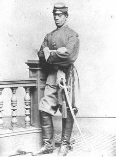 Charles Remond Douglass (Frederick's youngest son) dressed in his Mass 54th Volunteer Regiment uniform. He is the great grandfather of Nettie Washington Douglass