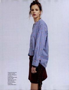Amica issue 5 - Aprile 2015 Camicia in cotone con rose #ottodame