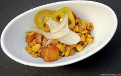 Food & Wine Festival - Farm Fresh - Pepper Bacon Hash with Sweet Corn, Potatoes, Hollandaise, and Pickled Jalapenos