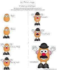 Image result for potato head printables Kindergarten Social Studies, Social Studies Worksheets, Preschool Kindergarten, Preschool Activities, Free Printable Worksheets, Preschool Printables, Worksheets For Kids, Mr Potato Head Printable, Vip Kid