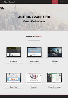 Anthony Zaccardi — Design & Developer  http://www.anthonyzaccardi.com