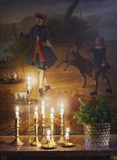 Sköna hem. Candles make a difference.