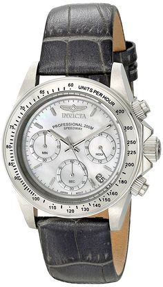 Invicta Women's 18384 Speedway Stainless Steel Watch With Grey Leather Band * Check this awesome product by going to the link at the image.