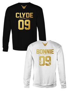 BONNIE and CLYDE crewneck sweatshirt ★ the Golden Collection  ★ Couples sweatshirts, couple sweats, couple outfits
