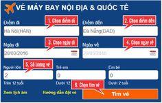 Giao diện khung tìm vé của Sacojet.vn