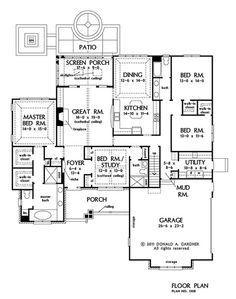 images about House Plans   Small on Pinterest   House plans     The Gladstone Plan   This single dining space plan features tray  coffered  and cathedral ceilings throughout    open living areas and cozy
