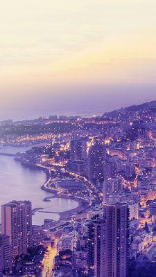 Coastal City Lights | iPhone 6s wallpaper