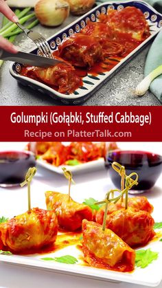 Gołąbki Gołąbki,Recipe Videos Polish Stuffed Cabbage, or Golumpki, is an easy and delicious comfort food that anyone can make. Try this family recipe from Platter Talk today! appetizers and drink pastry recipes cabbage rolls recipes cabbage rolls polish Cabbage Rolls Recipe, Cabbage Recipes, Food Blogs, Food Videos, Recipe Videos, Polish Stuffed Cabbage, Graham, Eastern European Recipes