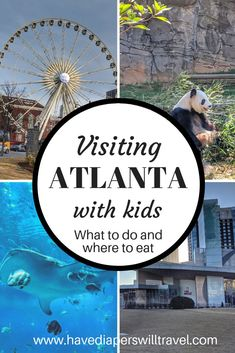 Everything you need to know about visiting Atlanta with kids including guides to the Georgia Aquarium, Zoo Atlanta, World of Coca Cola and Visit Atlanta, Atlanta Travel, Atlanta Zoo, Atlanta Georgia, Georgia Usa, Family Vacation Destinations, Vacation Ideas, Travel Destinations, Vacation Pictures