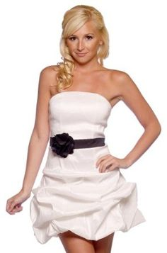 Women's Designer Strapless Pleated Pick Up Evening Flower Sash Prom Party Hot Dress,£59.99 [UK & Ireland Only]