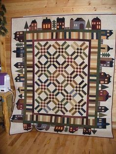 Always love house quilt blocks and these are exceptional when made with Cherrywood Hand-Dyed Fabrics. http://cherrywoodfabrics1.typepad.com/wispy_stitches/