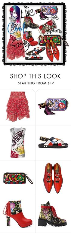 """Live--Adventure--Explore: Quirky Style"" by kareng-357 ❤ liked on Polyvore featuring Exclusive for Intermix, Marc Jacobs, Faith Connexion, Marni, Diophy, Comme des Garçons, Gucci, Dolce&Gabbana and Kneipp"