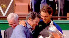 """""""""""Rafael Nadal, Toni Nadal and the La Decima Trophy """" """""""