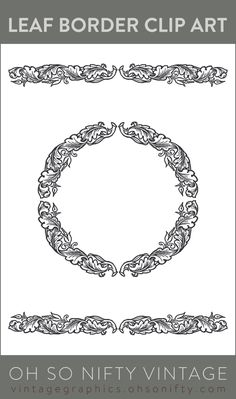 Royalty Free Images | Decorative Leaf Borders - http://vintagegraphics.ohsonifty.com/royalty-free-images-decorative-leaf-borders/